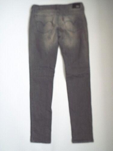 Levi's Jeans W27 Basse Gris Coupe Demi Slim Taille Curve Femme Levm120 L32 rFxgwrO1