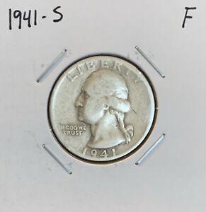 1941-S-Washington-Quarter-F-Fine-90-Silver