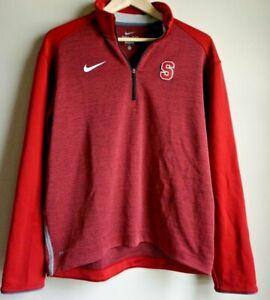 Nike-Dri-Fit-Stanford-Cardinal-Red-Quarter-Zip-Pullover-Men-039-s-Size-Medium