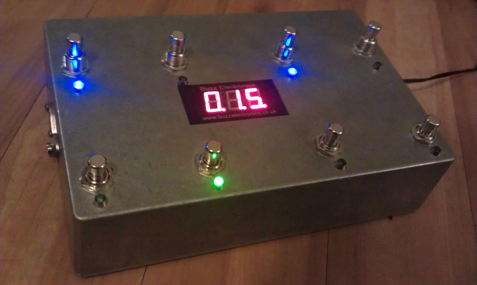 Programmable MIDI 8 Looper - True Bypass - Guitar Effects Loop Pedal - Aluminium