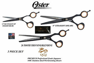Oster Kazu 440c Inoxydable Steel&alloy Thinner&straight Cisailles Ciseaux