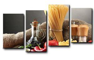 Quadri moderni stampe su tela canvas cm 140x75 4 pezzi design arredo casa cucina ebay - Quadri per cucina moderna ...
