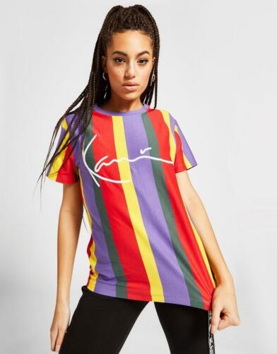 Nouveau Karl Kani Signature À Rayures T-Shirt