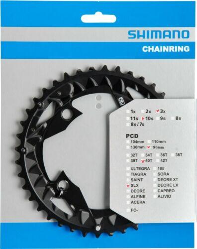 Shimano Chaînes Feuille SLX fc-m672//fc-m622 40 Dents Slx LK 96 mm Noir
