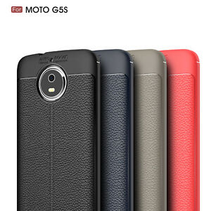 innovative design aa906 aa429 Details about Back Case Shockproof Rubber Leather Cover For Motorola Moto  G5S G5 Plus x4 z2