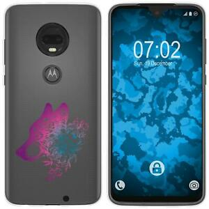 Motorola-Moto-G7-Plus-Coque-en-Silicone-floral-M3-6-Case-films-de-protection