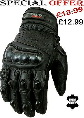 Milwaukee Leather Mens Short Racing Leather Motorbike Motorcycle Gloves Hard Knuckle Shell Protection Small