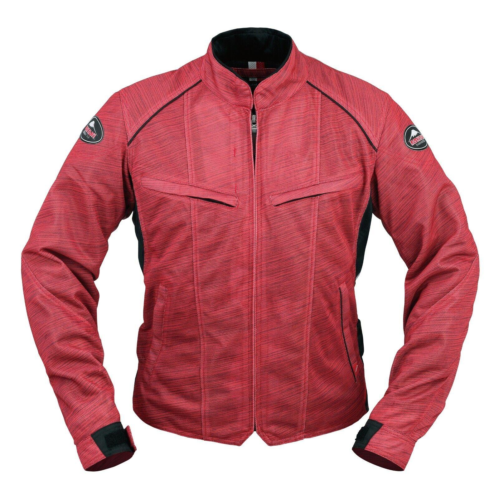 KUSHITANI GENUINE OEM FULL MESH JACKET K-2338 rot MOTORCYCLE RIDING WEAR