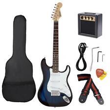 ST Electric Guitar Blue+3W AMP+Cable Strap Picks GigBag+Free Fast Ship Hot M1G7