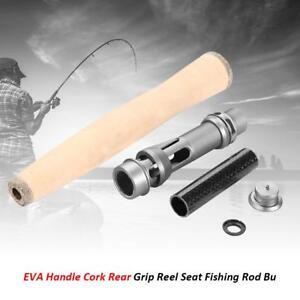 Details about Cork Handle Split Rear Grip Reel Seat Fishing Rod Building Repair DIY Kit