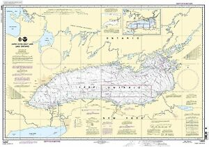 NOAA Chart Lake Ontario (Metric) 10th Edition 14800