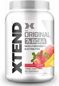 Scivation XTEND Original BCAA Powder - 90 Servings - Strawberry Mango