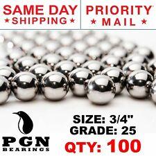 100 Qty 34 Inch G25 Precision Chrome Steel Bearing Balls Chromium Aisi 52100
