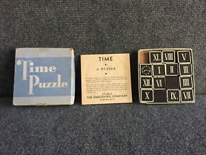 Rare-1930s-Time-Puzzle-Game-by-The-Embossing-Company-Albany-New-York