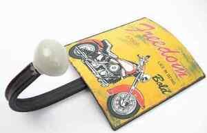 Garderobenhake<wbr/>n MOTORRAD Wandhaken Kleiderhaken Nostalgie Garage Harley FREEDOM