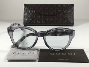 533c80a2c54 Image is loading New-Authentic-Gucci-Sunglasses-Rounded-Clear-Gray-Lens-