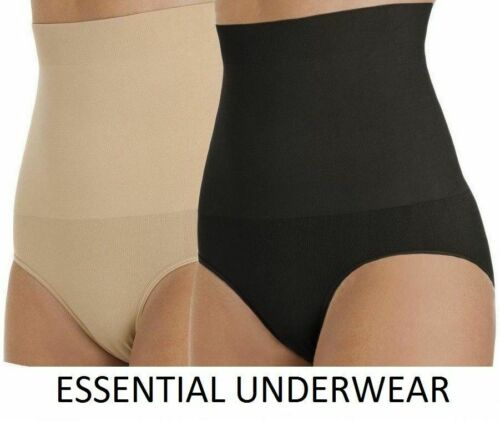 BLACK,NUDE,WHITE 2X SEAMLESS HIGH WAISTED FIRM CONTROL SLIMMING KNICKERS,S-XXL