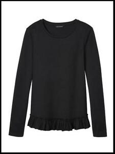 071f3bccbe2 Details about NEW BANANA REPUBLIC RUFFLE HEM COUTURE TEE TOP XS