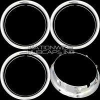 Set Of 4 15 Chrome Wheel Trim Rings Beauty Rims Ring Glamour Band For Steel Rim