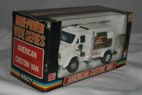 Shinsei Mini-power #4607 Américain Personnalisé Hippie Van, Mib , 1:3 0 Echelle