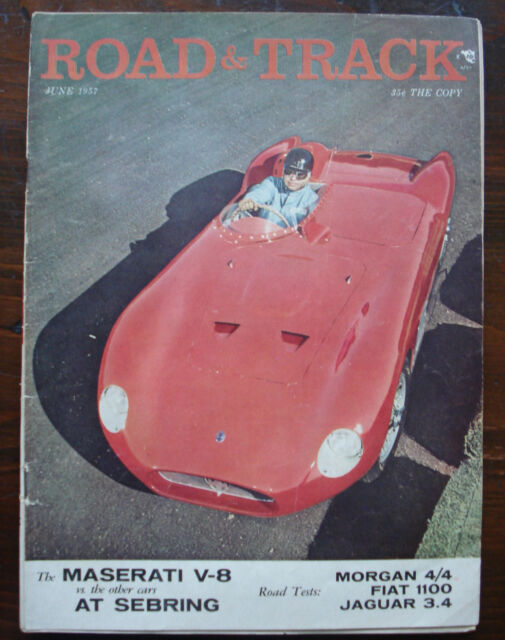 COMPLETE JUNE 1957 ROAD & TRACK MAGAZINE (VOLUME 8 NUMBER 10)