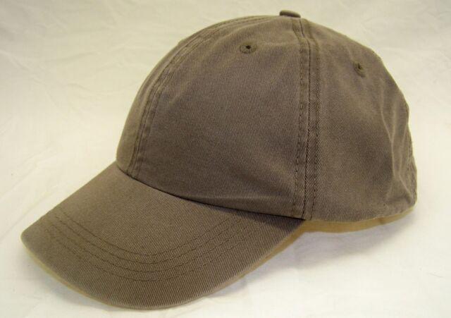 nWT Alternative AH70 6-Panel Cotton Baseball Cap Buckle Back Dark Khaki 6e72a3c08723