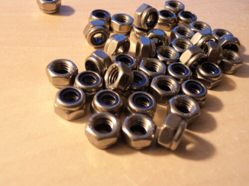 M5 STAINLESS STEEL A2 NYLOC NUTS QTY = 50