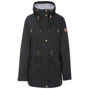 Trespass-Womens-Black-Parka-Jacket-Waterproof-Long-Coat-With-Hood