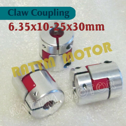 3PCS 6.35x10mm Plum Flexible Jaw Spider Coupling CNC Stepper Motor Shaft Coupler