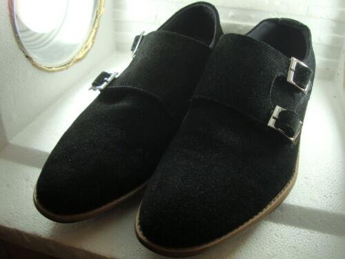 Chaussures Taille fois coût en initial deux 325 2 8 daim portées 1 habillées 00 noires Zrwq1ZC