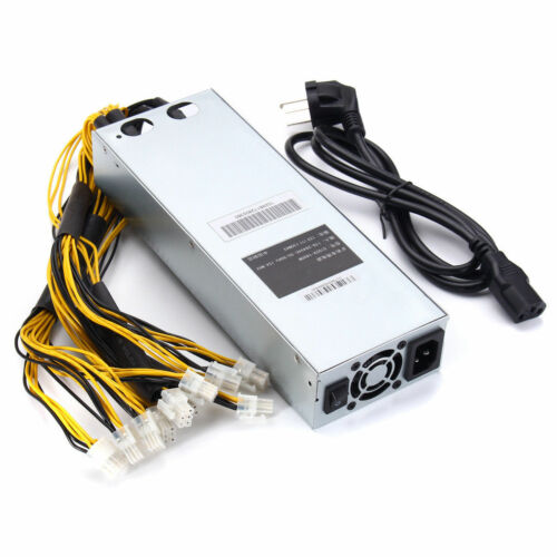1600W Mining Machine Power Supply PSU For Bitcoin Miner S7 S9 12.5T 13T 13.5T