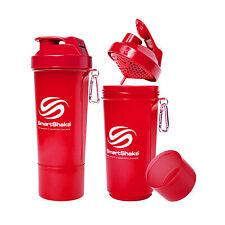 NEW SMARTSHAKE SHAKER SLIM SERIES NEON RED SMART SHAKE BOTTLE 17 OZ