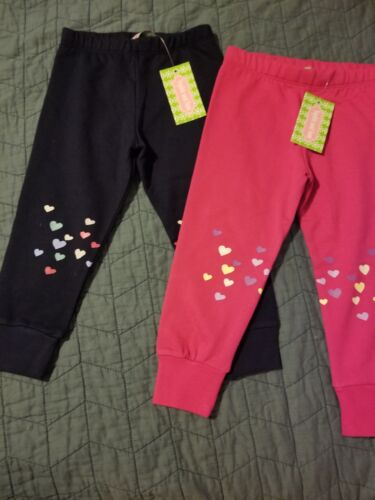 Sophie and Sam toddler girls sister//twins navy pink Sweatpants sz 3T 18 mo NEW