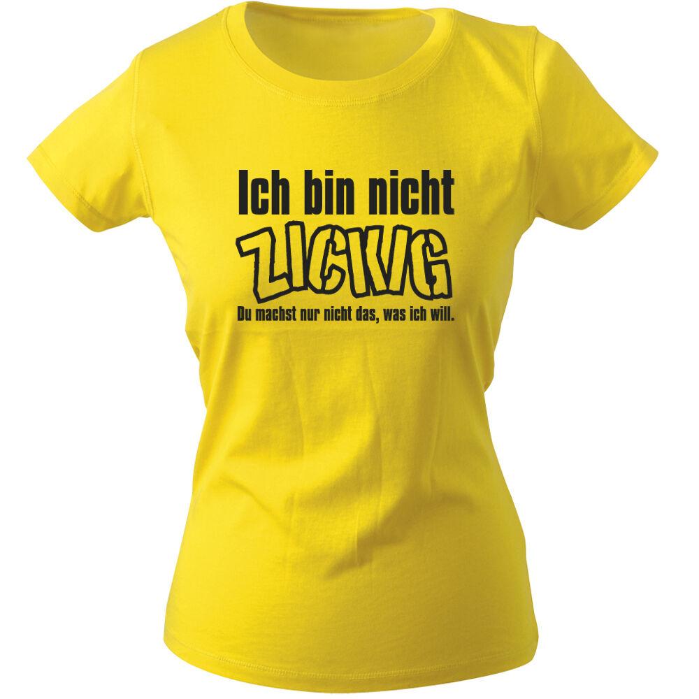 (12618 Jaune) Girly T-shirt S M L Xl Xxl Femmes Motif Shirts ♥ Pas Un ♥