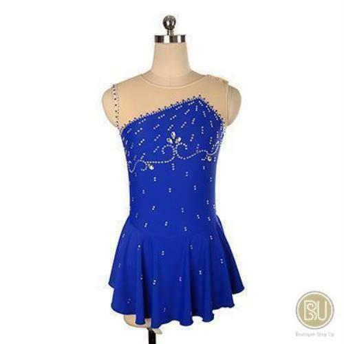 Competition Skating Kleid Sleeveless Lycra Available in 10+ Farbes