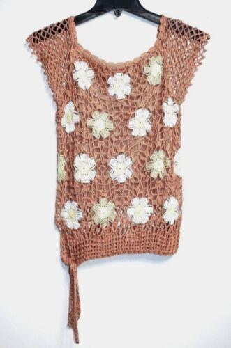 à mainPull florale et blanc nouer à et à Sm la la armure à taille Fait beigejaune 0wOv8nymNP