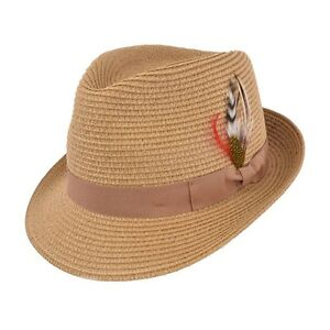 Caricamento dell immagine in corso marrone-estate-paglia-cappello-di-feltro -fedora-Cappello- edb0c65b1f06