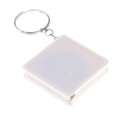 2PCS 1M Retractable Ruler Plastic Portable Mini Tape Measure With Key Chain GX