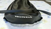 Honda Ca110 Sport 50 1962 To 1969 Seat Cover, White Dyed Logo + Strap (hs122)