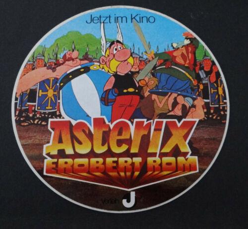 Aufkleber Asterix erobert Rom Kinofilm 1976 Obelix Idefix Majestix Zeichentrick