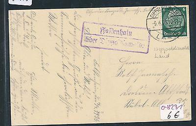 """92185 Dr > Ddr Landpost Ra2 Falkenhain über Dippoldiswalde Ak """"dorf.."""" 1936 Klar Und GroßArtig In Der Art"""