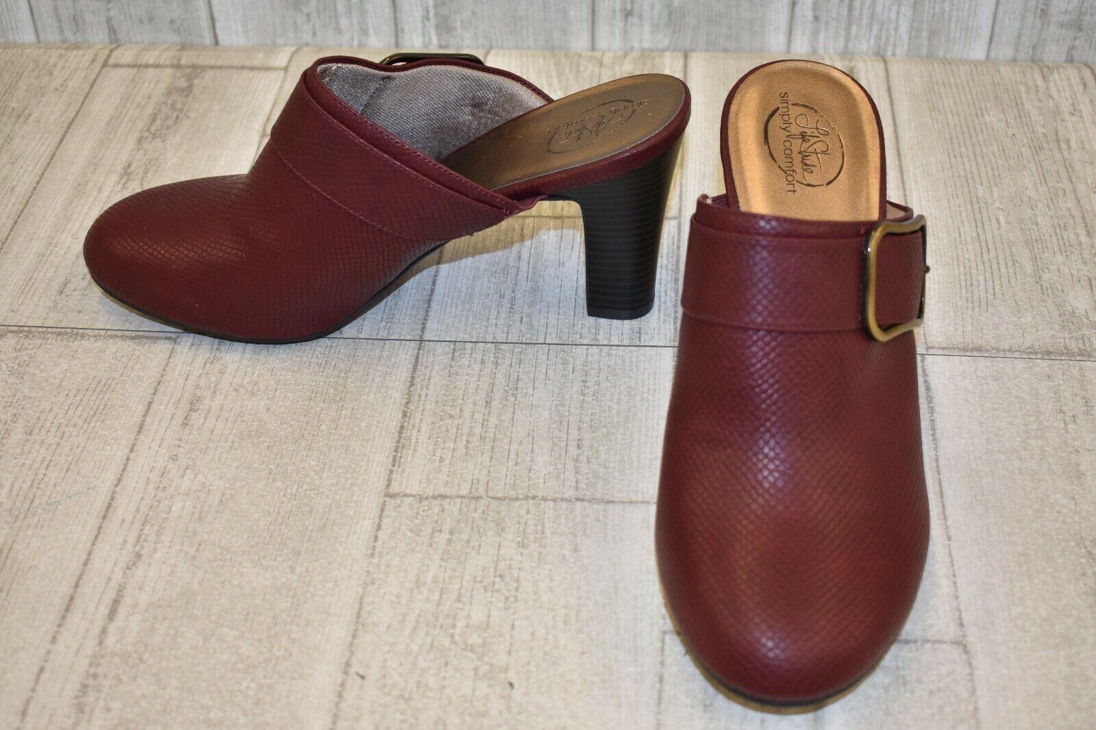LifeStride Cayla Heels - Women's Size 11 M - Dark Red NEW