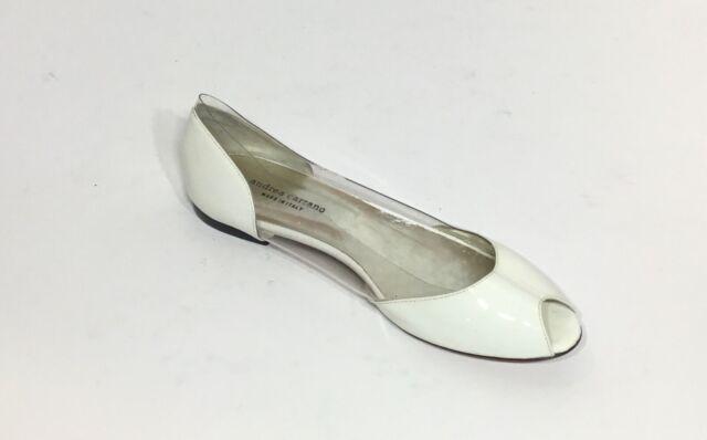 Andrea Carrano Patent Leather PVC White