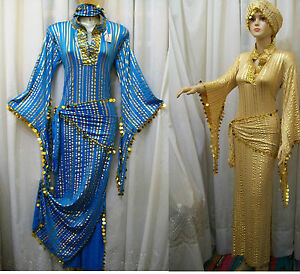 1b541ccd39f42 Image is loading Egyptian-Belly-Dance-Baladi-Saidi-Galabeya-Dancing-Dress-
