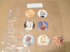 POGS MADONNA SET OF ALL GOLD LETTERS 7 IN TOTAL RARE
