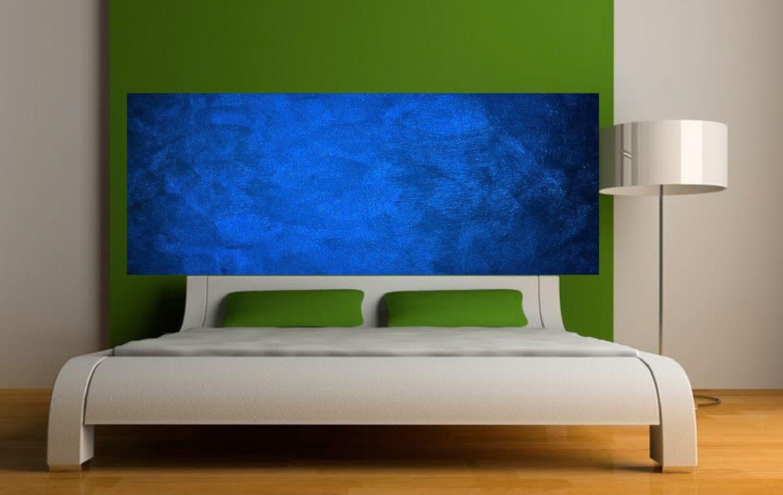 Carta dipinto testata del letto sfondo blu 3642 Art déco Adesivi