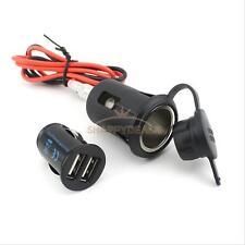 12V Motorbike Motorcycle Cigar Lighter Power Plug Socket Outlet USB Car Charger