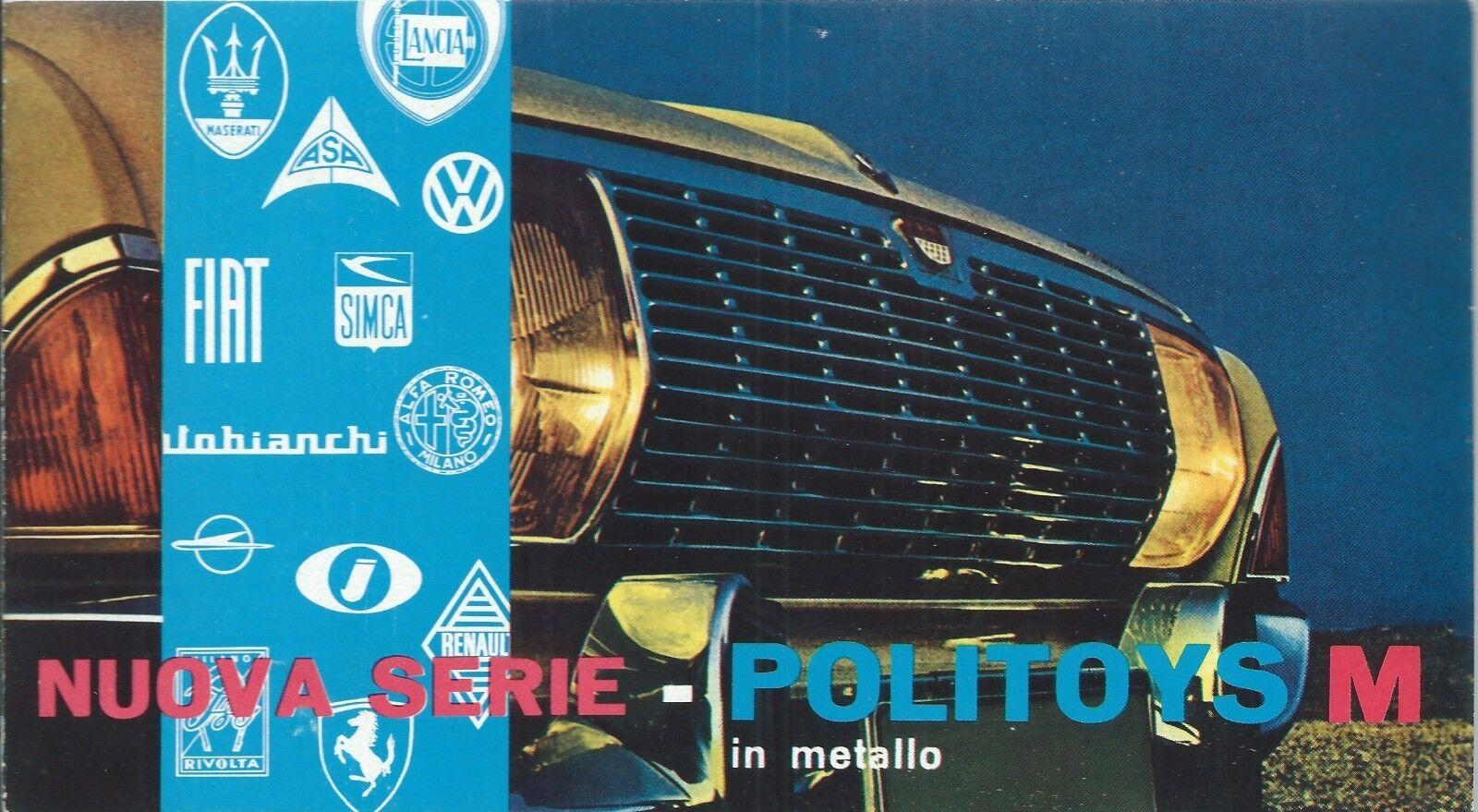 Politoys M - Depliant Catalogo Nuova serie in Metallo anni '60 - Microminiature