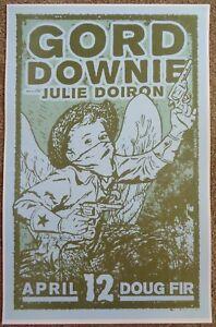 GORD-DOWNIE-TRAGICALLY-HIP-2011-Gig-POSTER-Portland-Oregon-Concert