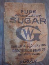 GW Sugar Sack 10lb  Great Western Sugar Co Billings, Montana Great Western